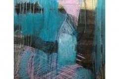 רגע ורוד,2018, אקריליק ,פנדה על בד, 70X80