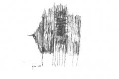 רישום חופשי,2018, עט פיילוט על נייר,15X20